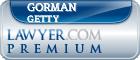 Gorman E Getty  Lawyer Badge