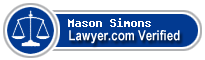 Mason E. Simons  Lawyer Badge