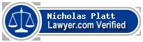 Nicholas William Platt  Lawyer Badge