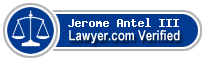 Jerome Strauss Antel III  Lawyer Badge