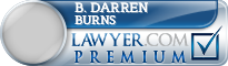 B. Darren Burns  Lawyer Badge