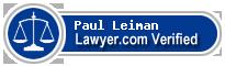 Paul G Leiman  Lawyer Badge