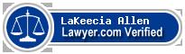 LaKeecia Renee' Allen  Lawyer Badge