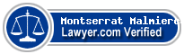 Montserrat Malmierca-Smith  Lawyer Badge