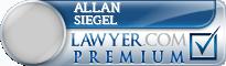 Allan Marshall Siegel  Lawyer Badge