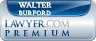 Walter William Burford  Lawyer Badge