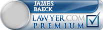 James Michael Baeck  Lawyer Badge