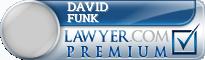David M Funk  Lawyer Badge