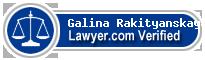 Galina Rakityanskaya  Lawyer Badge