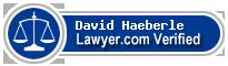 David Haeberle  Lawyer Badge