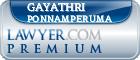 Gayathri Wijeratna Ponnamperuma  Lawyer Badge