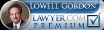 Lowell J Gordon  Lawyer Badge