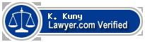 K. Martin Kuny  Lawyer Badge