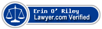 Erin O' Riley  Lawyer Badge
