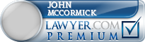 John E Mccormick  Lawyer Badge