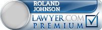 Roland W Johnson  Lawyer Badge