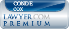 Conde T. Cox  Lawyer Badge