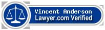 Vincent H Anderson  Lawyer Badge