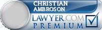 Christian C Ambroson  Lawyer Badge