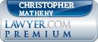 Christopher Bruce Matheny  Lawyer Badge