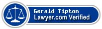 Gerald R Tipton  Lawyer Badge