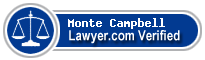 Monte S Campbell  Lawyer Badge