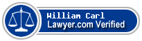 William E Carl  Lawyer Badge