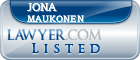 Jona Maukonen Lawyer Badge