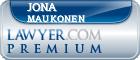Jona Jolyne Maukonen  Lawyer Badge
