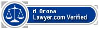 M M Orona  Lawyer Badge