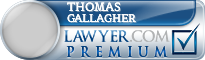 Thomas L Gallagher  Lawyer Badge