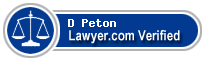 D Neal Peton  Lawyer Badge