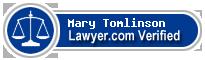 Mary Burns Tomlinson  Lawyer Badge