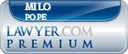Milo Pope  Lawyer Badge