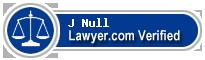 J Glenn Null  Lawyer Badge