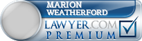 Marion T Weatherford  Lawyer Badge