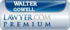 Walter R Gowell  Lawyer Badge