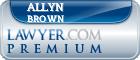 Allyn E Brown  Lawyer Badge