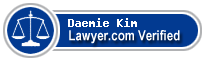 Daemie M Kim  Lawyer Badge