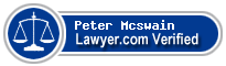 Peter W Mcswain  Lawyer Badge
