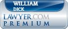William G Dick  Lawyer Badge