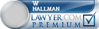 W Eugene Hallman  Lawyer Badge