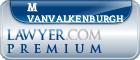 M D Vanvalkenburgh  Lawyer Badge
