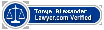 Tonya M Alexander  Lawyer Badge