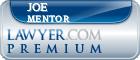 Joe Mentor  Lawyer Badge