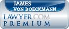 James Lee Von Boeckmann  Lawyer Badge