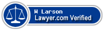 W Louis Larson  Lawyer Badge