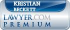 Kristian Scott Beckett  Lawyer Badge