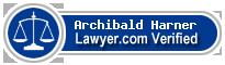 Archibald Allan Harner  Lawyer Badge