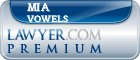 Mia Marie Vowels  Lawyer Badge